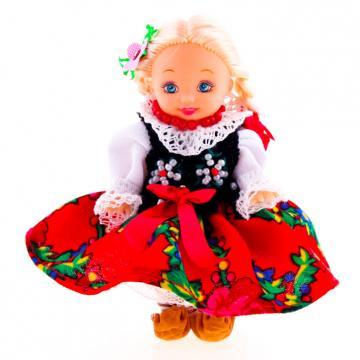 Lalka ludowa - góralski strój regionalny | 11 cm