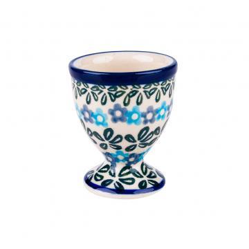 Jajecznik - ceramika Bolesławiec - kwiecista rozeta