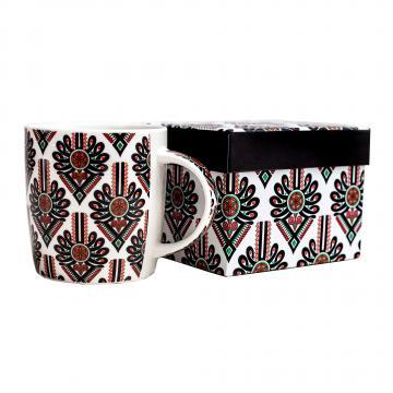 FOLK Kubek w pudełku Hania – ludowe wzory z parzenickiej wycinanki