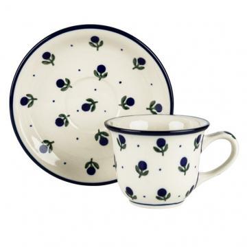 Filiżanka do kawy - ceramika Bolesławiec - jagódki
