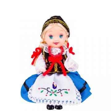 Lalka ludowa - kaszubski strój regionalny   11 cm