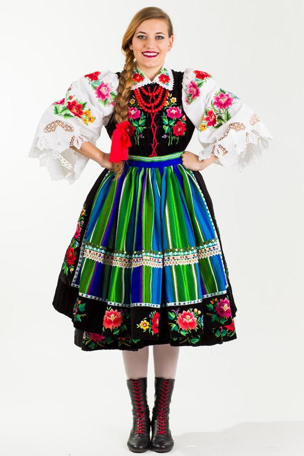 Folkstar Koszula łowicka BIELONKA damski strój ludowy  9xcHn