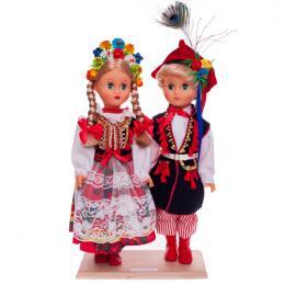 Para krakowska - lalki ubrane w krakowskie stroje ludowe | 40 cm