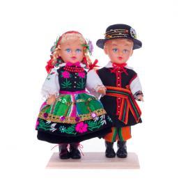 Para łowicka - lalki ubrane w łowickie stroje ludowe | 23 cm