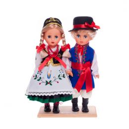 Para kaszubska - lalki ubrane w kaszubskie stroje ludowe | 30 cm