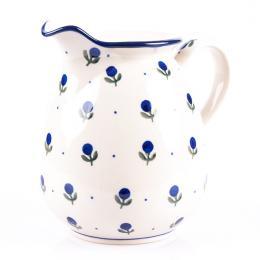Dzbanek 0,9 l - ceramika Bolesławiec - jagódki