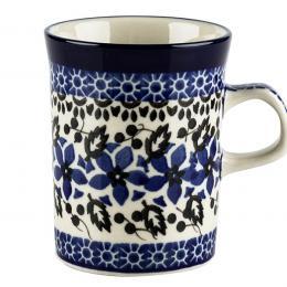 Kubek prosty - ceramika Bolesławiec - polne kwiaty