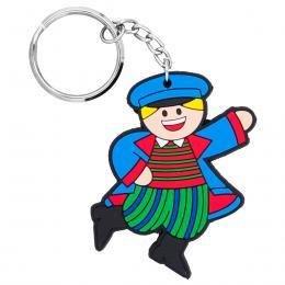Brelok gumowy - tradycyjny strój ludowy - Sieradzak