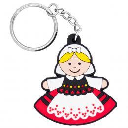 Brelok gumowy - tradycyjny strój ludowy - Rzeszowianka