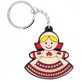 Brelok gumowy - tradycyjny strój ludowy - Podlasianka