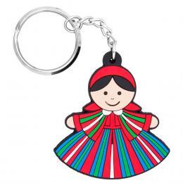 Brelok gumowy - tradycyjny strój ludowy - Sieradzanka