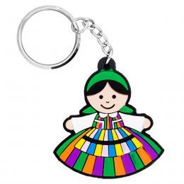 Brelok gumowy - tradycyjny strój ludowy - Opocznianka
