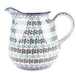 Dzbanek 1,5 l - ceramika Bolesławiec - kwiecista rozeta