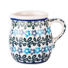 Miniaturowy dzbanuszek - ceramika Bolesławiec - kwiecista rozeta