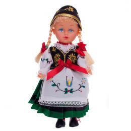Lalka ludowa - kaszubski strój regionalny | 23 cm