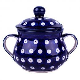 Cukiernica z uszami - ceramika Bolesławiec - groszki