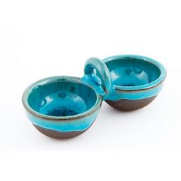 Malutki dwojaczek z niebieskim szkliwem