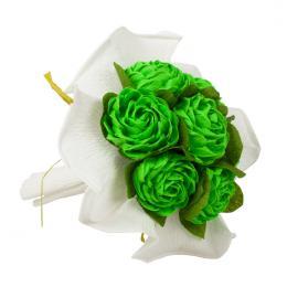 Bukiet z bibuły - zielony