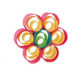 Kolorowa drewniana ozdoba choinkowa - kwiatek