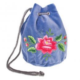 Haftowana torebka woreczek z wzorem ludowym
