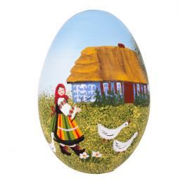 Pisanka - gęsie jajo - łowiczanka przy chacie