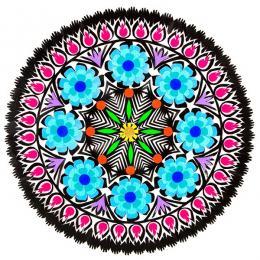 Wycinanka z motywem kwiatowym - tradycyjny wzór ludowy