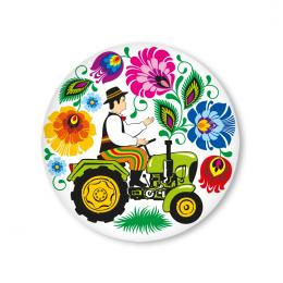 Przypinka FOLK mała - traktorek