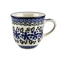 Kubek filiżankowy - ceramika Bolesławiec - polne kwiaty
