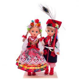 Para krakowska - lalki ubrane w krakowskie stroje ludowe | 30 cm