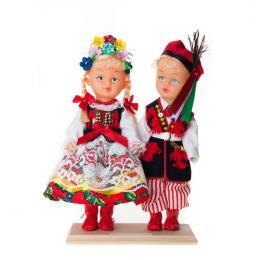 Para krakowska - lalki ubrane w krakowskie stroje ludowe | 23 cm