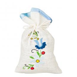 Ozdobny woreczek zapachowy z haftem ludowym - wzór kaszubski