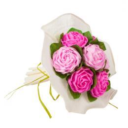 Bukiet z bibuły - ciemny i jasny różowy