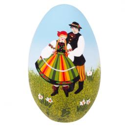 Pisanka łowicka - gęsie jajo - para łowicka