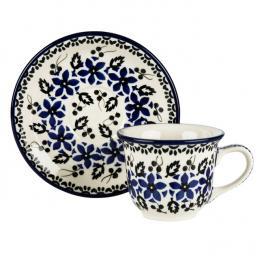 Filiżanka do kawy - ceramika Bolesławiec - polne kwiaty