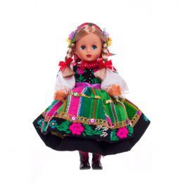 Lalka ludowa - łowicki strój regionalny | 30 cm