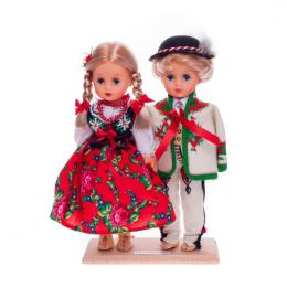 Para góralska - lalki ubrane w góralskie stroje ludowe | 30 cm