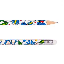 Ołówek z gumką FOLK - kaszubski