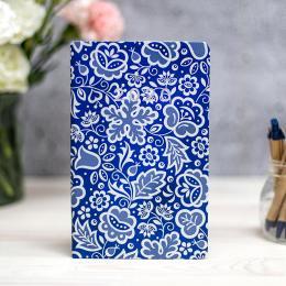 Kalendarz książkowy FOLK 2020 - tygodniowy - kujawski niebieski