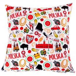 Poduszka dekoracyjna 38x38cm - POLSKA symbole