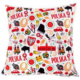 Poduszka dekoracyjna 38x38cm - POLSKA symbole