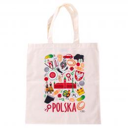 Bawełniana torba - POLSKA symbole