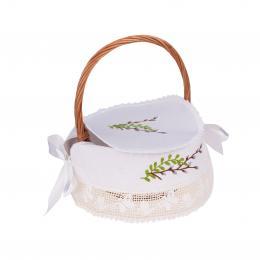 Serwetka haftowana - bazie - wykończona koronką