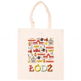 Bawełniana torba - ŁÓDŹ symbole