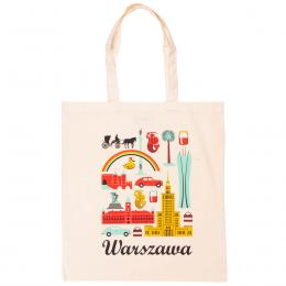 Bawełniana torba - WARSZAWA symbole