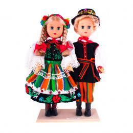 Para łowicka - lalki ubrane w łowickie stroje ludowe | 30 cm