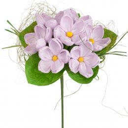 Bukiet z bibuły długi - jasny fiolet