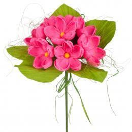 Bukiet z bibuły długi - różowy