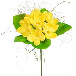 Bukiet z bibuły długi - żółty