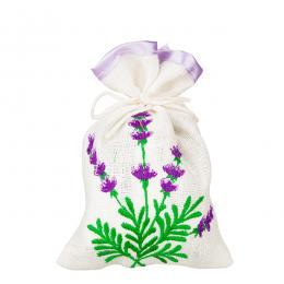 Ozdobny woreczek zapachowy z haftem ludowym - lawenda