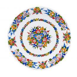 Talerz deserowy - ręcznie malowana porcelana opolska
